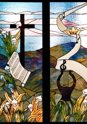 one of Karen's early church windows